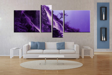4 piece wall art, living room large canvas, landscape huge pictures, mountain multi panel canvas