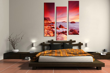 3 piece canvas print, bedroom canvas wall art, beach pictures, ocean canvas photography, ocean art