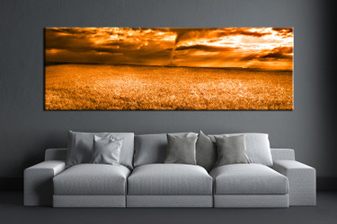 1 piece canvas wall art, living room huge canvas print, brown scenery photo canvas, scenery large pictures