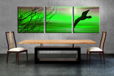 3 piece large pictures, dining room wall decor, wildlife group canvas, wildlife artwork, wildlife wall art