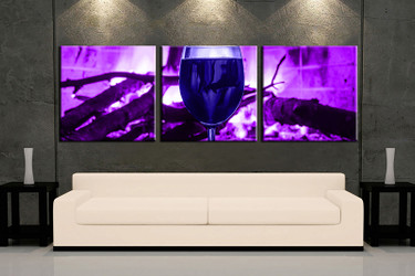 3 piece huge pictures, living room multi panel canvas, wine canvas art prints, wine purple artwork, wine decor
