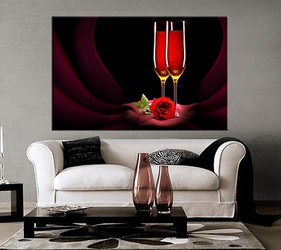 1 piece large pictures, living room multi panel art, wine photo canvas, wine artwork