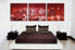 3 piece canvas wall art, red city wall art, city multi panel canvas, cityscape artwork