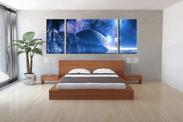 3 piece canvas art print, bedroom art, landscape multi panel art, landscape huge pictures