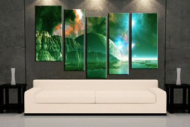 5 piece huge pictures, living room multi panel canvas, landscape canvas art prints, landscape artwork, landscape art