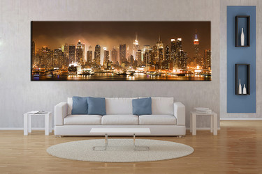 1 piece wall art, multi panel art, brown city large canvas, city huge pictures, living room photo canvas