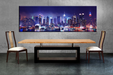 dining room wall decor, 1 piece wall art, black and white city multi panel art, city huge pictures, city pictures
