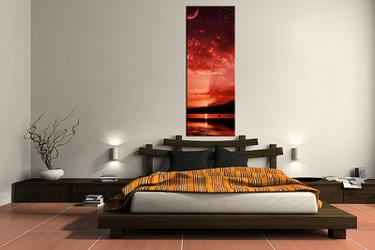 1 piece canvas art print, bedroom art, sunrise multi panel art, ocean huge pictures