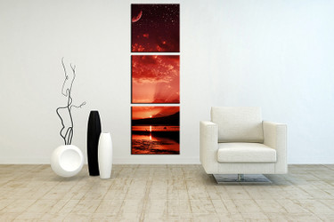 3 piece huge pictures, living room multi panel canvas, ocean canvas art prints, ocean artwork, landscape art