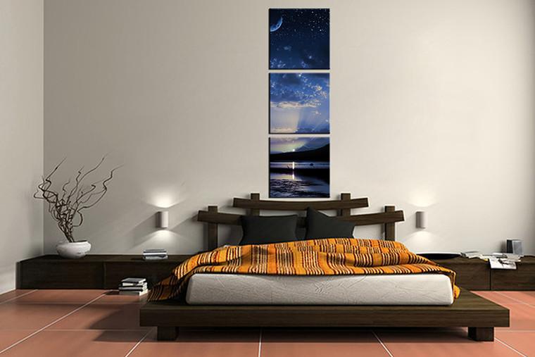 3 piece canvas print, bedroom canvas photography, ocean blue pictures, landscape canvas art print, landscape wall art,home decor,