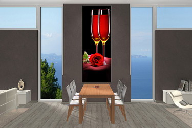 dining room decor, 1 piece wall art, wine pictures, red wine wall decor, wine canvas print