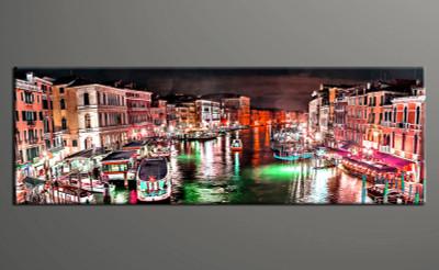 1 piece canvas print, home decor artwork, city photo canvas, city red canvas photography, city art