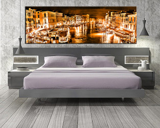 1 piece large pictures, city orange art, bedroom multi panel art, city photo canvas, city artwork