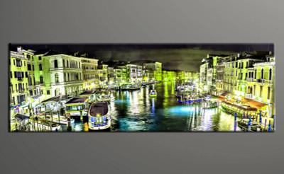 home decor,1 piece canvas art prints, yellow city photo canvas, city canvas print, city large canvas