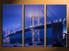 3 piece canvas photography, home decor art, bridge city huge pictures, city blue wall decor