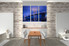 3 piece large pictures, dining room wall decor, bridge city group canvas, city blue artwork