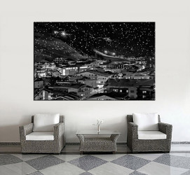 1 piece huge pictures, living room multi panel canvas, black and white city canvas art prints, city artwork, city decor