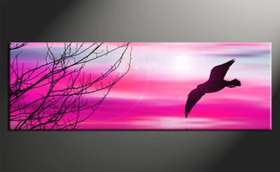 home decor, 1 piece canvas art prints, wildlife canvas print, wildlife canvas photography, purple wall art