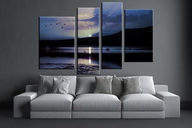 4 piece huge pictures, living room multi panel canvas, ocean canvas art prints, ocean artwork, ocean decor