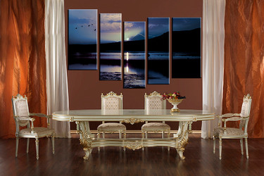 dining room wall art, 5 piece multi panel canvas, blue ocean huge pictures, ocean artwork, landscape pictures