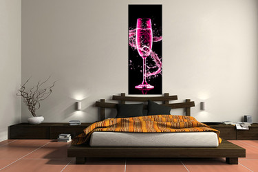 1 piece canvas wall art, bedroom wine artwork, wine pictures, wine canvas print, wine artwork