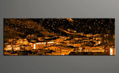 1 piece canvas photography, home decor art, city canvas art print, orange city huge pictures
