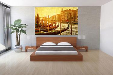 bedroom decor,1 piece canvas wall art, yellow city canvas prints, city canvas prints, city canvas photography
