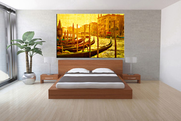 1 piece canvas print, bedroom canvas wall art, yellow city pictures, city canvas photography, city art