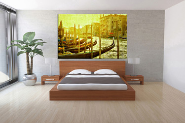 1 piece canvas print, bedroom canvas wall art, green city pictures, city canvas photography, city art