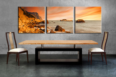 3 piece large pictures, dining room wall decor, Ocean group canvas, Ocean artwork, Ocean wall art