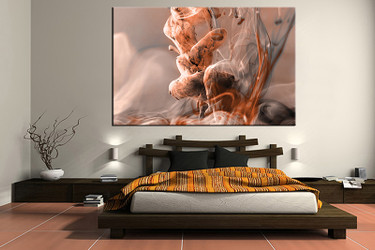 1 piece large pictures, modern brown art, bedroom multi panel art, modern photo canvas, modern artwork