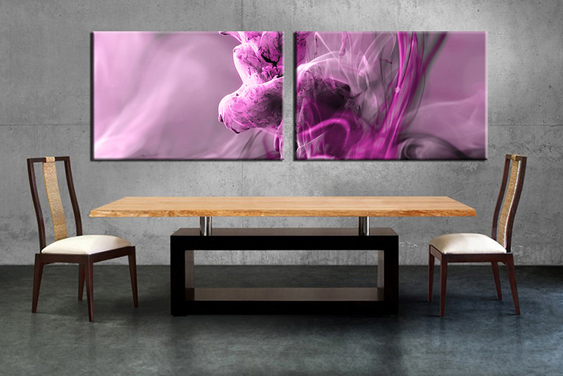 2 Piece Purple Modern Artwork Canvas Photographyabstract Wall Art
