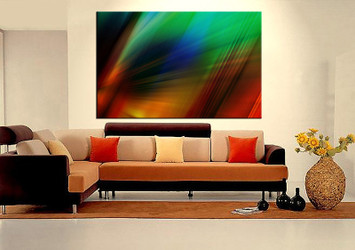 living room art, 1 piece canvas wall art, modern decor, modern artwork, black and white large canvas