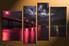 4 piece canvas photography, home decor art, city bridge huge pictures, red city wall decor