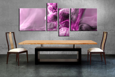 4 piece large canvas, dining room wall art,modern pictures, modern canvas photography
