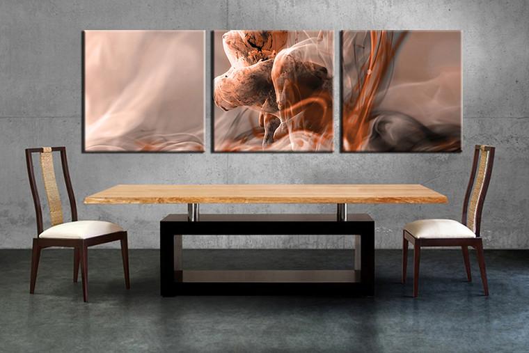 dining room decor, 3 piece wall art, modern pictures, brown modern wall decor, modern canvas print