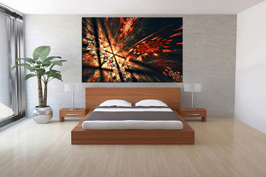 1 piece canvas wall art, bedroom art print, abstract large canvas, abstract multi panel canvas
