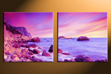 home decor, 2 piece wall art, ocean pictures, ocean art, ocean large pictures, ocean artwork