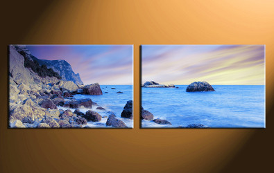 2 piece canvas print, home decor artwork, ocean photo canvas, ocean canvas photography, ocean art