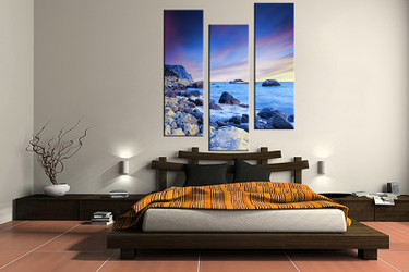 3 piece large pictures, ocean blue art, bedroom multi panel art, ocean photo canvas, ocean artwork