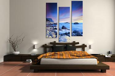3 piece large pictures, ocean blue art, bedroom multi panel art, ocean photo canvas, ocean artwork
