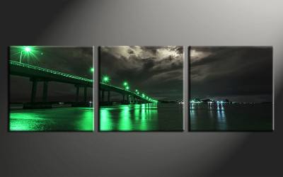 home decor art, 3 piece canvas art prints, green city canvas print, city group canvas, city pictures
