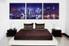 bedroom wall art, 3 piece multi panel art, city wall art, city blue artwork, city artwork