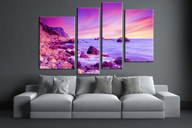 3 piece large pictures, living room multi panel art, ocean photo canvas, ocean artwork