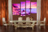 3 piece large canvas, dining room canvas wall art, ocean purple artwork, ocean huge pictures, ocean art