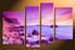 3 piece photo canvas, home decor artwork, ocean yellow multi panel canvas, ocean canvas photography