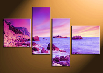 home decor,4 piece canvas art prints, ocean photo canvas, ocean canvas photography, ocean large pictures