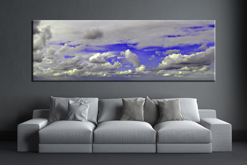 1 Piece Purple Grey Sky Abstract Huge Canvas Art Abstract Wall Art Large Abstract Art