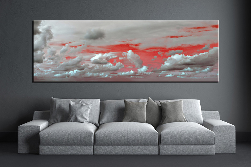 1 Piece Abstract Grey Canvas Wall Art