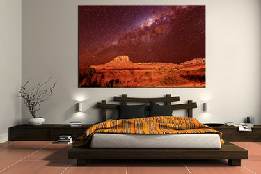 1 piece canvas art print, bedroom art, landscape multi panel art, landscape orange huge pictures